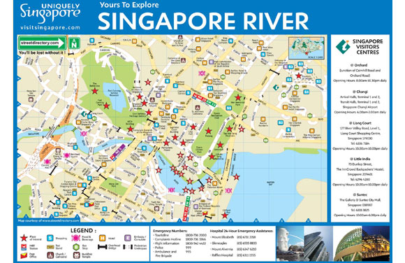 Singapore Map For Tourists – Tourist Attractions Map In Singapore