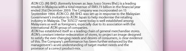aeon co m berhad company review Mr poh ying loo has been executive director of aeon co (m) bhd since may 26, 2011 mr poh ying loo is a fellow of the chartered institute of management accountants (fcma) and a member of .