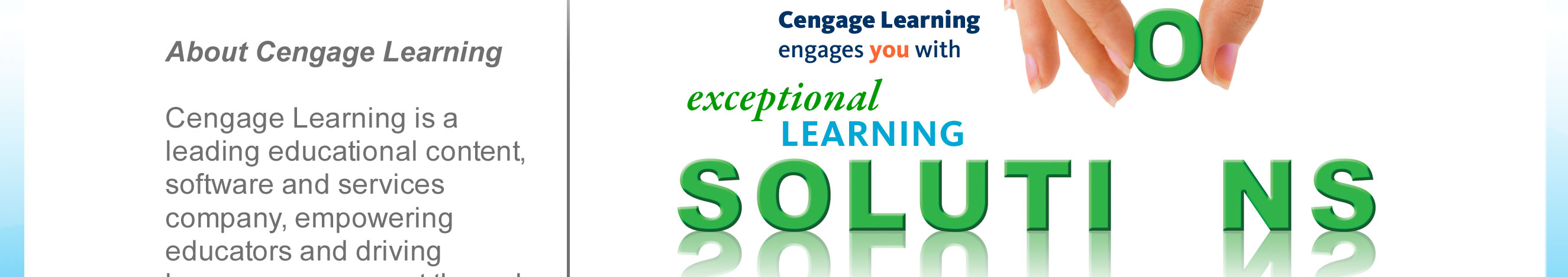 What are some services of Cengage Learning?