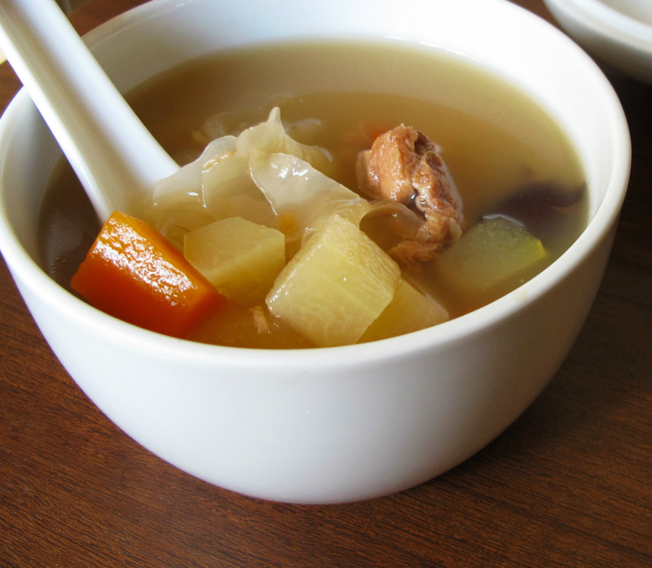 Almond Aloe Vera Soup
