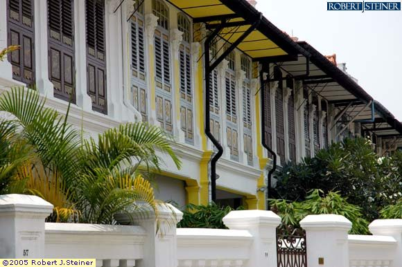 Shophouses down Emerald Hill Road