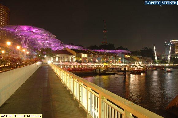 Clarke Quay, Night View from Read Bridge